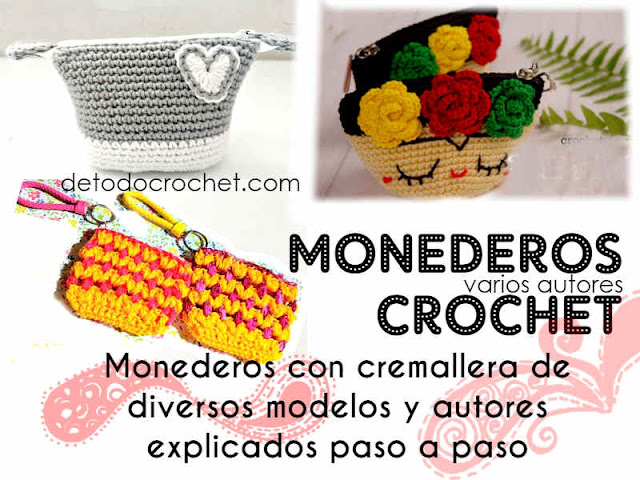 como-tejer-monederos-crochet-ganchillo