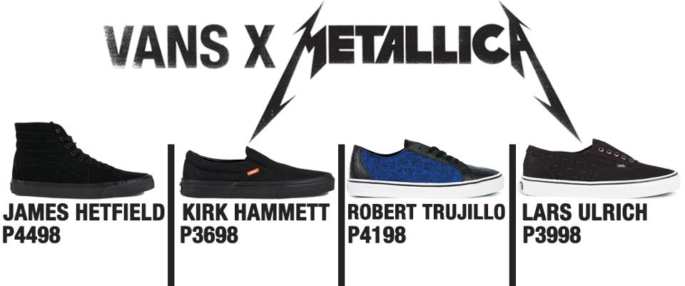 Vans X Metallica | Skate Shoes PH Manila's #1