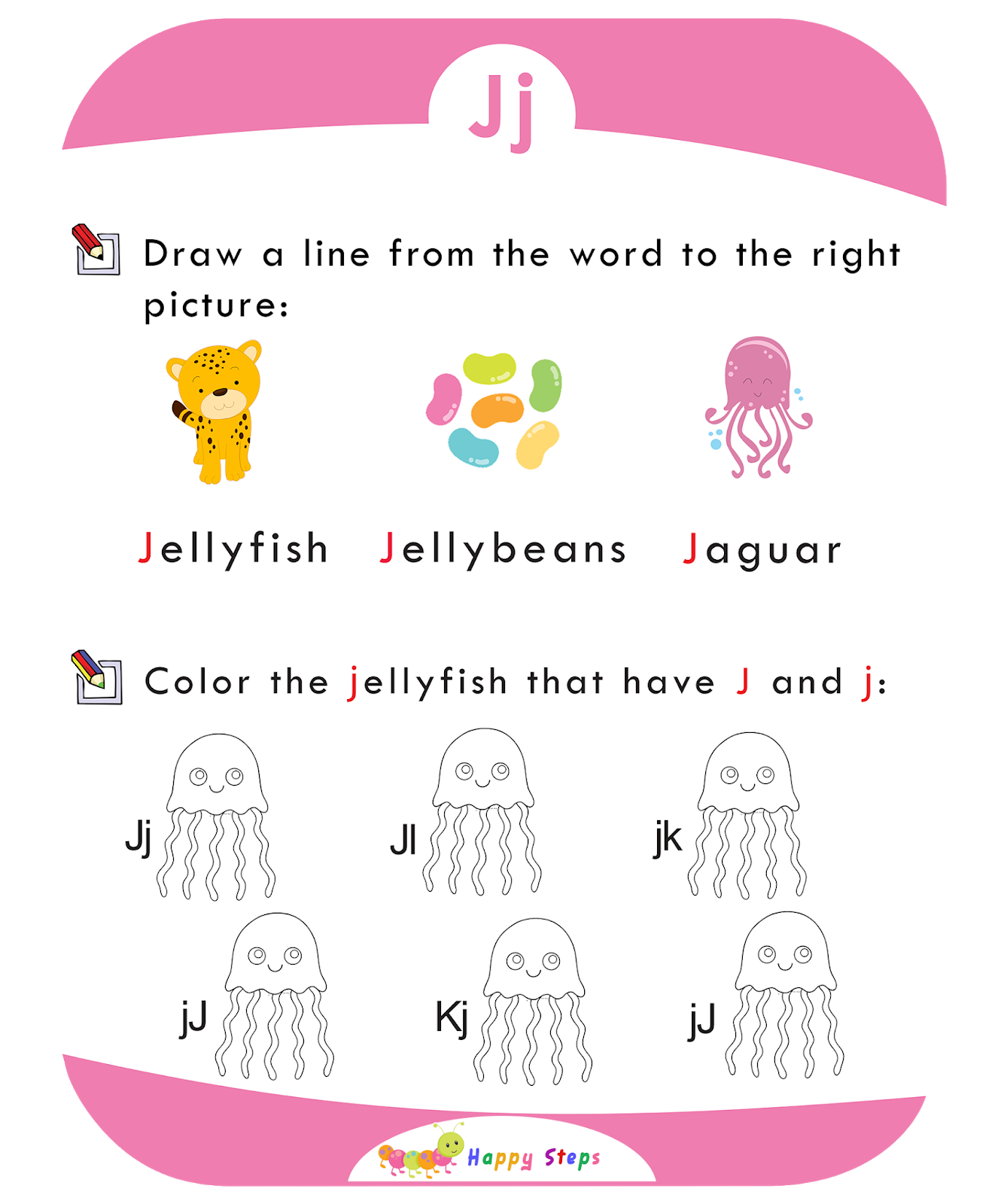 Activity Worksheet 1 Letter J