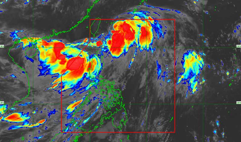 Satellite image of Tropical Storm 'Falcon' as of 4:50 am, July 18