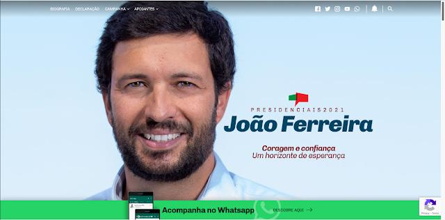 PÁGINA NA INTERNET DO CANDIDATO JOÃO FERREIRA