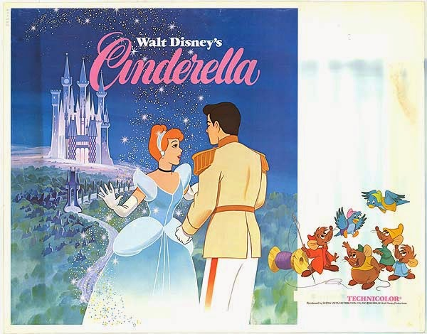 Original Movie Poster for Cinderella 1950