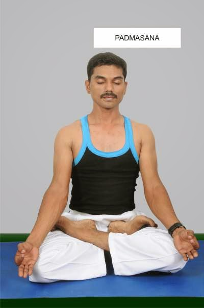Padmasan for menstural problems