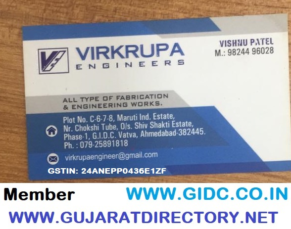 VIRKRUPA ENGINEERS - 9824496028 24ANEPP0436E1ZF