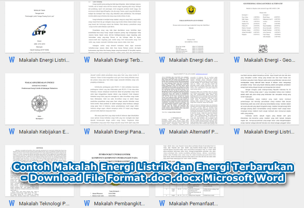 Contoh Makalah Energi Listrik dan Energi Terbarukan