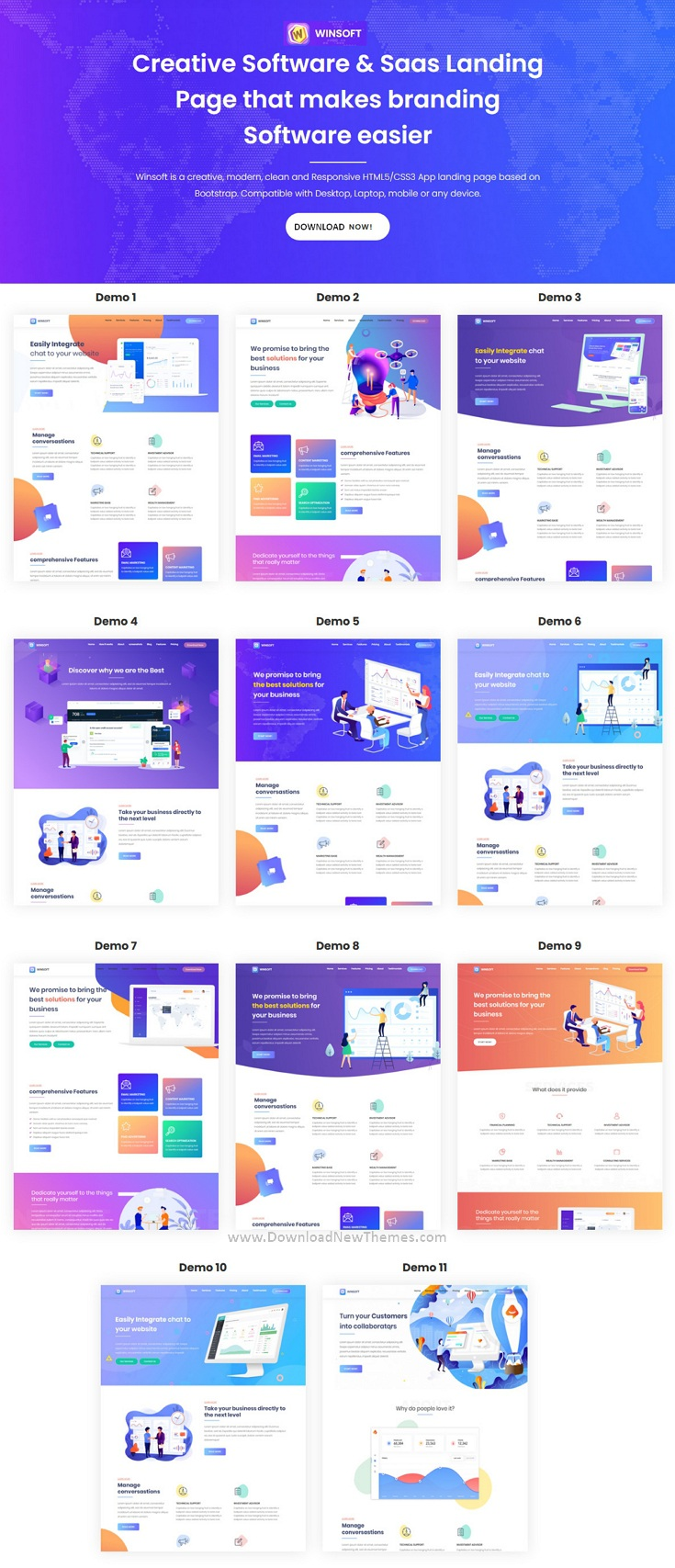 Saas Agency & Software Landing Page