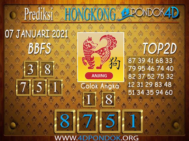 Prediksi Togel HONGKONG PONDOK4D 07 JANUARI 2021