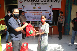 Baksos, Bharaduta Dermaga Polres Pelabuhan Makassar Berbagi Sembako