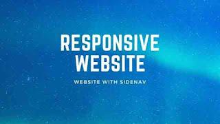 Responsive Website With Sidenav