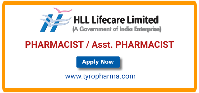 Walk in for PHARMACIST job in HLL Lifecare Limited
