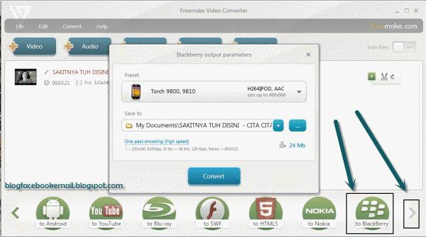 Cara Format Video Ukuran Khusus Blackberry Tutorial Format Video Untuk Segala Macam Tipe Blackberry