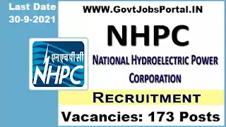NHPC Recruitment 2021 online application