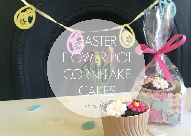 DIY easter flower pot cornflake cakes