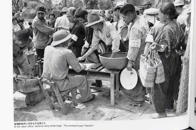 Distribution of food after the war, Hancho
