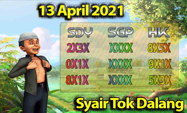 Syair Sydney Tok Dalang 13 April 2021