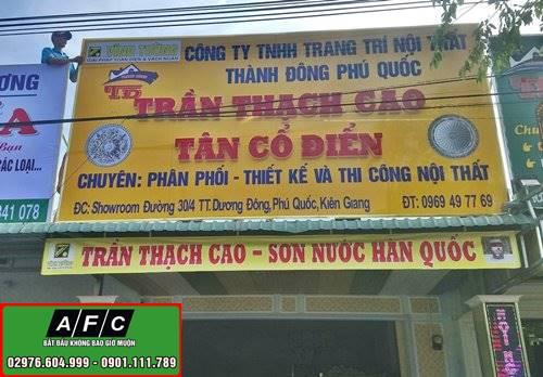 Thi công biển quảng cáo chữ nổi Thành Đông Phú Quốc