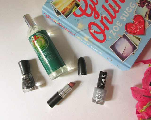january favourites, the body shop, essence nail polish, MAC velvet teddy, Girl Online