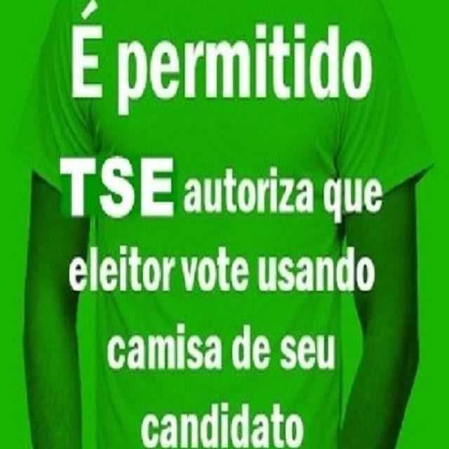 TSE autoriza eleitor votar com camisetas de partidos e candidatos (Imagem: Reprodução/Internet)