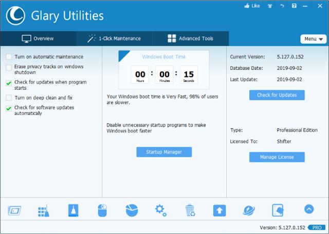 Glary Utilities Pro 5.172.0.200 com Crack