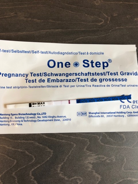 One Step Positive Pregnancy Test