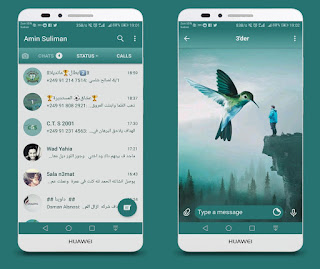 Bird & Boy Theme For YOWhatsApp & Fouad WhatsApp By Ameen