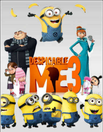 Poster Of movie  Despicable Me 3 2017 Hindi Dual Audio