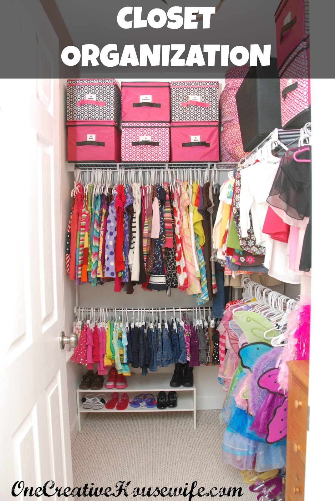 One Creative Housewife Organizing My Daughter S Closet