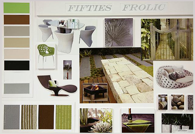 Design Presentation Board With Centre Outward Layout