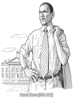 american presidents barack obama coloring pages