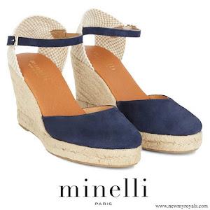 Princess Marie wore MINELLI Rayana blue wedge espadrilles