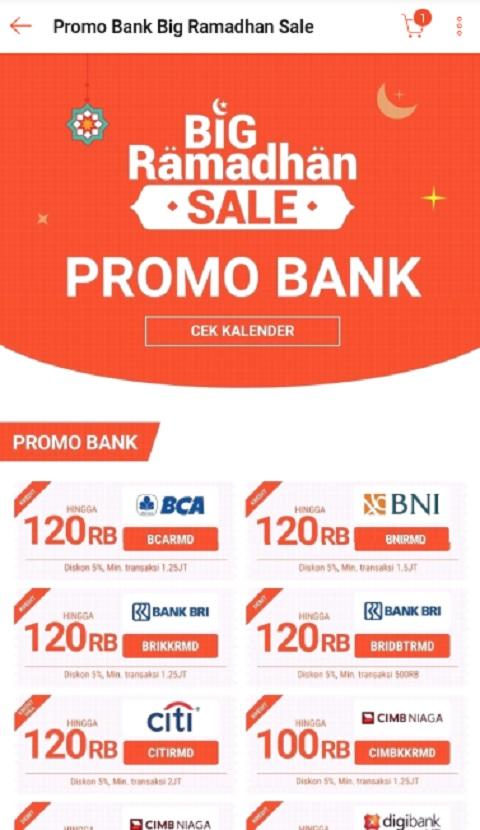 Promo Bank Big Ramadhan Sale di Shopee