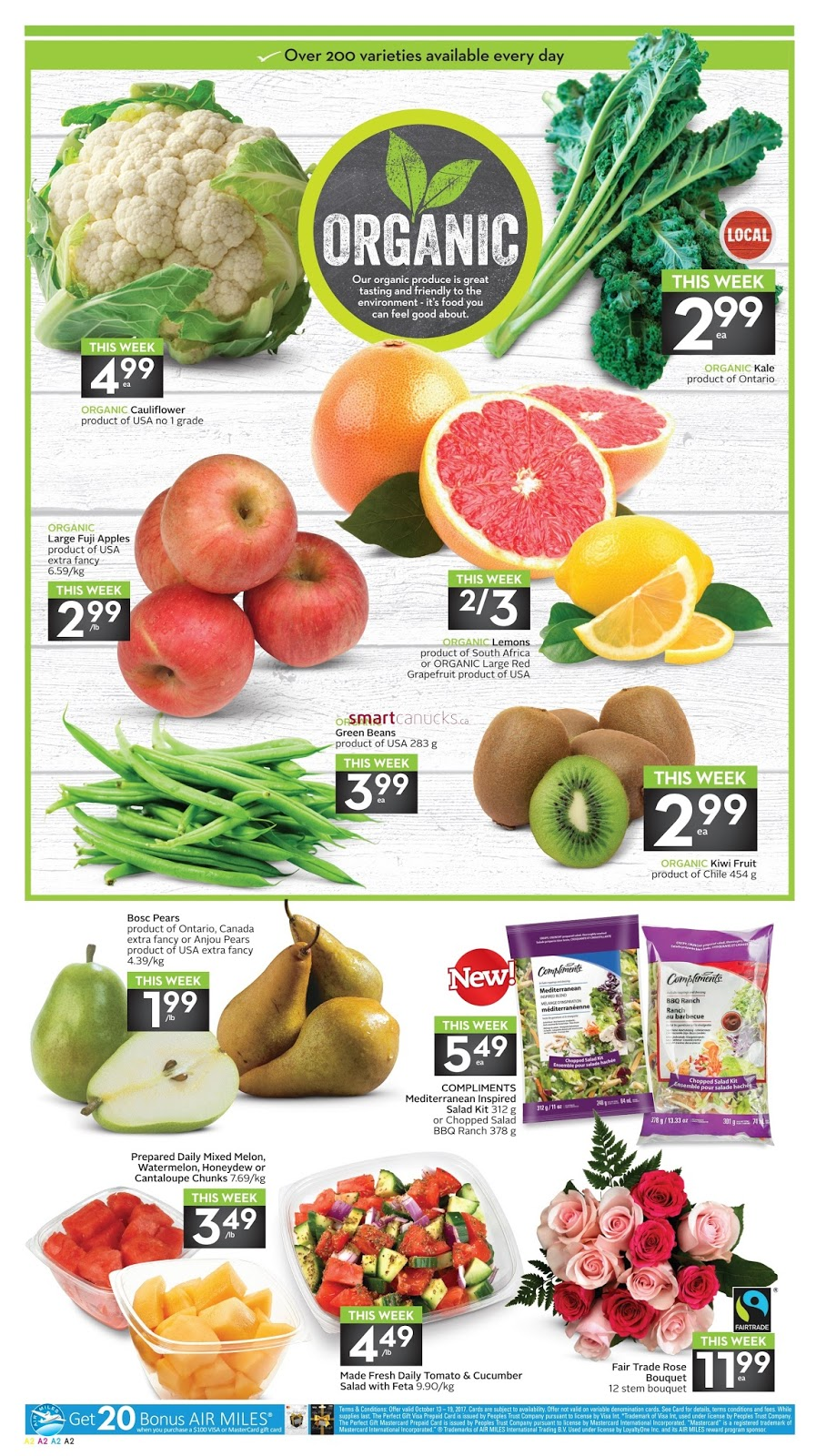 Sobeys flyer weekly better food for all valid october 13 19 2017