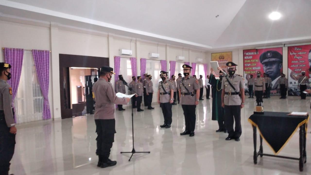 Sertijab Kasat Reskrim Polres Tanggamus