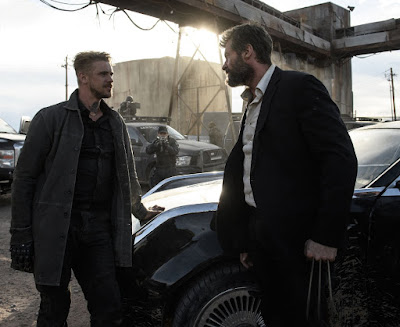 Boyd Holbrook and Hugh Jackman in Logan Movie (1)