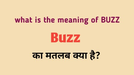Buzz meaning in Hindi