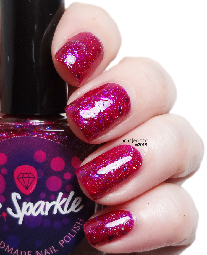 xoxoJen's swatch of Ms. Sparkle Poppy