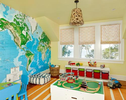 världskarta tapet i barnrum fototapet barntapet