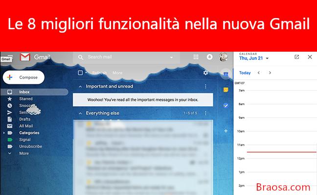 Le migliori funzionalità della nuova Gmail