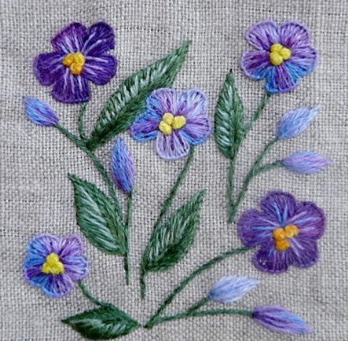 Mẫu thêu hoa nhí đẹp - Hinh 2