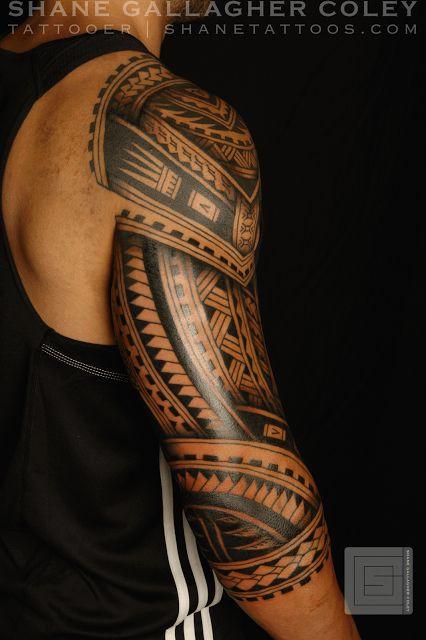 Tatuaje Maori manga completa