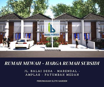 Rumah Desain Mewah - Harga Rumah Subsidi - Hanya 190 Jutaan di Marendal Amplas Patumbak Medan - Perumahan Elite Garden