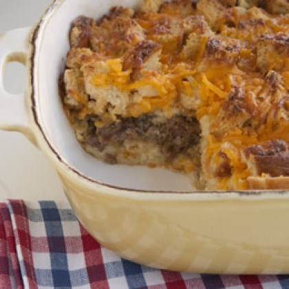 Sausage and Cheese Strata