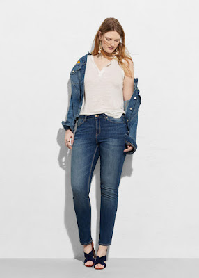 Jeans slim susan - violeta by Mango