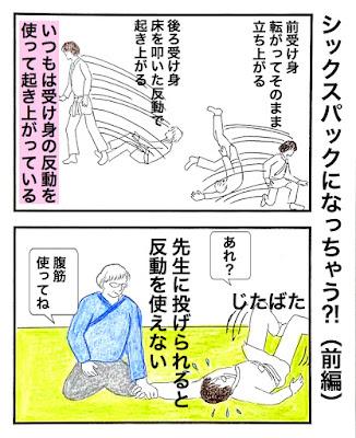 起き上がる時に反動使う腹筋使う