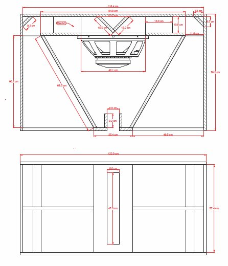 MHB 4818 speaker box plan design