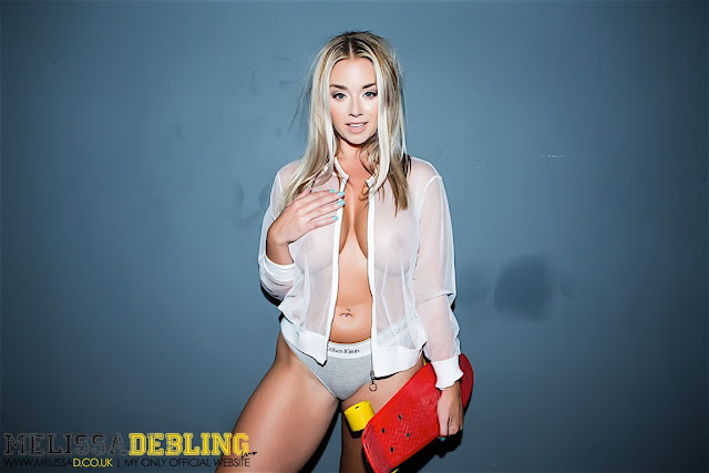 Melissa Debling big boobs skater girl hand on boob