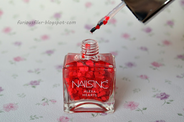 nails inc alexa hearts valentine's day nailbox january