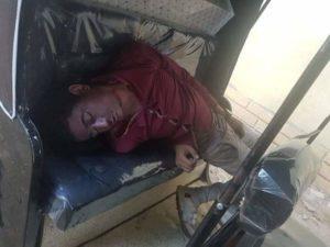 العثور على جثة شاب مقتولا داخل توك توك  فى قرية ميت بدر حلاوة بالغربية
