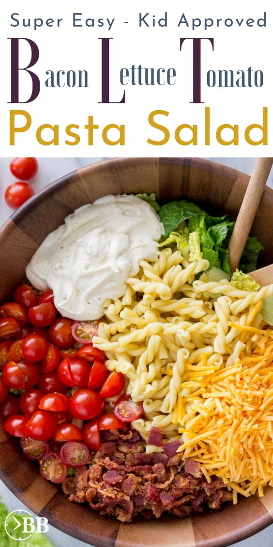 15-Minute BLT Pasta Salad #recipes #dinnerrecipes #dinnerideas #newfoodideas #newfoodideasfordinner #food #foodporn #healthy #yummy #instafood #foodie #delicious #dinner #breakfast #dessert #yum #lunch #vegan #cake #eatclean #homemade #diet #healthyfood #cleaneating #foodstagram