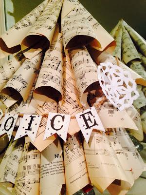 Music Paper Christmas tree tutorial